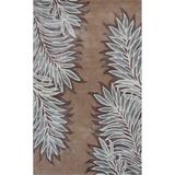 KAS Rugs Bob Mackie Home 1003 Caramel Folia Hand-Tufted Wool and Viscose Area Rug with Cotton