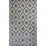 KAS Rugs Bob Mackie Home 1017 Silver and Grey Mirage Hand-Tufted Wool and Viscose Area Rug with