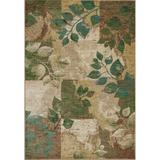 KAS Rugs Zen 5050 Spring Serenity Machine-Made 100% Space-Dyed Polyester Area Rug 5 x 5 Round