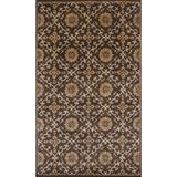 KAS Rugs Syriana 6023 Mocha Artisanal Hand-Tufted 100% New Zealand Wool Area Rug with Cotton Backing
