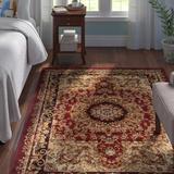 Andover Mills™ Harrison Oriental Red/Beige Area Rug Polypropylene in Brown/Red, Size 87.0 H x 60.0 W x 0.54 D in | Wayfair ANDO1456 25284347