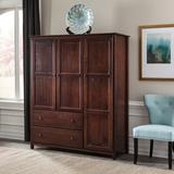 "Grain Wood Furniture Shaker Wardrobe Armoire, Wood in Cherry, Size 72""H X 59""W X 21""D | Wayfair SH0901"