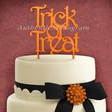 aMonogram Art Unlimited Trick & Treat Cake Topper Wood in Brown   Wayfair 94126P-tigerlily
