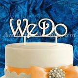 aMonogram Art Unlimited We Do Cake Topper Wood in Brown   Wayfair 94132P-islandsand
