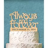 aMonogram Art Unlimited Always & Forever Cake Topper Wood in Green | Wayfair 94134P-shamrock