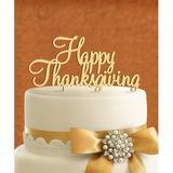 aMonogram Art Unlimited Happy Thanksgving Cake Topper Wood in Red | Wayfair 94122P-geranium