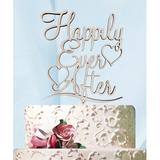 aMonogram Art Unlimited Happily Ever After Cake Topper Wood in Brown   Wayfair 94105P-desertdawn