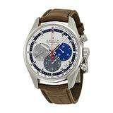 Zenith El Primero 36000 VPH Slver Dial Brown leather Mens Watch 03.2150.400/69.C713