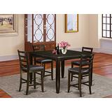5 PC Counter height Table set- Table and 4 Leather Stools