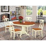 5 PC Dining room set-Oval Dining Table and 4 Dining Chairs