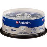 Verbatim M DISC BDXL 100GB 4x Blu-ray Discs Spindle, 25-Pack 98914