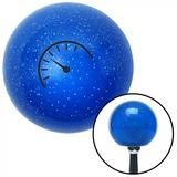 American Shifter 20754 Blue Metal Flake Shift Knob with 16mm x 1.5 Insert (Black Automotive Gauge)