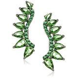 Noir Jewelry Green Ashton Ear Cuffs