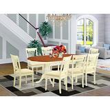 PLAI9-WHI-C 9 Pc Dining room set-Dining Table plus 8 Dining Chairs