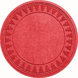 WaterGuard Pine Trees Christmas Tree Skirt - 35'' Round, Red, 3Ft Rnd