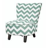 Heritage Kids Toddler Slipper Chair, Chevron Teal (WK656908)