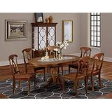 7 Pc Dining room set-Oval Dining Table with Leaf and 6 Chairs