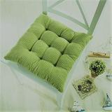 Ofit Set of 4 Cord Micro Suede Fully Quilted Dining Chair Cushion Pads 17x17 (Lime Green)