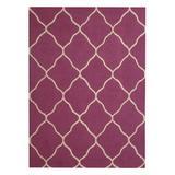 Herat Oriental Hand-Tufted Wool Purple/Beige Area Rug Wool in White, Size 84.0 H x 84.0 W x 0.5 D in   Wayfair WF-AMR3664