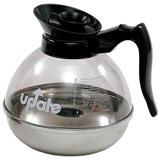 Update International 60 Ounce Polycarbonate Body Stainless Steal Base Coffee Decanter Plastic in Black, Size 7.0 H x 6.5 W x 6.5 D in | Wayfair