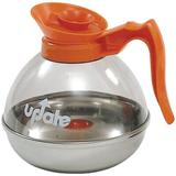 Update International 60 Ounce Polycarbonate Body Stainless Steal Base Coffee Decanter Plastic in Orange, Size 7.0 H x 6.5 W x 6.5 D in   Wayfair