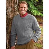 Men's John Blair Fisherman Sweater, Grey Heather XL