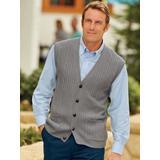 Men's John Blair Cable-Front Vest, Grey S Regular