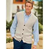 Men's John Blair Cable-Front Vest, Wheat Tan S Regular