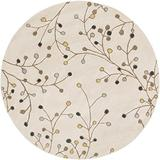 Surya Athena ATH-5116 Hand Tufted Wool Round Floral and Paisley Accent Rug, 6-Feet