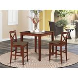 3 Pc counter height Dining set-pub Table and 2 Stools