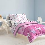 dream FACTORY Magical Princess 4 Piece Bedding Set, Toddler, Pink,2A74630JMU