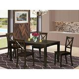 5 Pc Dining set-Table with Leaf Plus 4 Dining Chairs