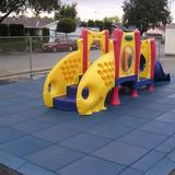 """Rubber-Cal, Inc. Eco-Safety 2.5"""" Rubber Playground Tiles in Blue, Size 2""""H X 19""""W X 19""""D 