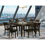 9 PC Dining room set-Kitchen Table with Leaf and 8 Kitchen Chairs.