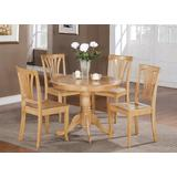 East-West Furniture Dinette set- 4 Wonderful wooden Chairs - A Wonderful dinner table- Wooden Seat and Oak dining table