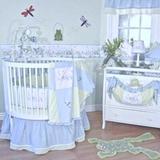 Brandee Danielle Sammy Round 4 Piece Crib Bedding Set Cotton Blend in Blue/Green, Size 52.0 W in | Wayfair 334PFRG