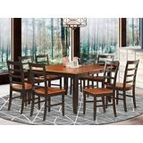 9 Pc Dining room set for 8-Square Table with Leaf and 8 Dining Chairs