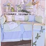 Brandee Danielle Sammy 4 Piece Crib Bedding Set Cotton/Cotton Blend in Blue/Green, Size 52.0 W in | Wayfair 324PFRG