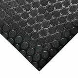 "Rubber-Cal, Inc. ""Coin-Grip"" 4 ft. x 7 ft. Garage Flooring Roll in in Black | Wayfair 03-165-2MM-BK-07"