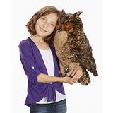 Melissa & Doug Giant Owl - Lifelike Stuffed Animal (17 inches tall)