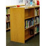 "W.C. Heller Double Face Shelf Standard Bookcase Wood in Brown, Size 42"" H x 37.75"" W x 24"" D | Wayfair LD24.5-42-1st-O-DDM"