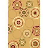 Persian-rugs Persian Geometric Beige Area RugPolypropylene in White, Size 63.0 H x 48.0 W x 0.75 D in   Wayfair 1008 Beige 4x5
