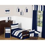 Sweet Jojo Designs Stripe 5 Piece Toddler Bedding Set Polyester in Gray/Blue/Navy   Wayfair Stripe-NV-GY-Tod