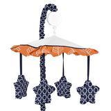 Sweet Jojo Designs Arrow Musical Mobile Fabric in Blue/Orange, Size 25.0 H x 19.0 W x 11.0 D in | Wayfair Mobile-Arrow-OR-NV
