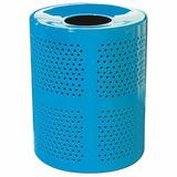 Leisure Craft Receptacle 32 Gallon Trash Can Stainless Steel in Blue   Wayfair R32-PERF-Blue