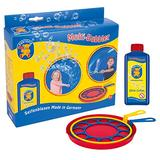 PUSTEFIX Multi Bubbler Giant Bubble Ring and Multi Bubble Ring Toy Set for Kids Includes 8.45 oz Bubble Solution Bottle and Liquid Tray Makes Big Bubbles, Multicolor, Model: 505310