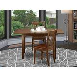 3 Pc Kitchen nook Dining set - Table with a 12in leaf and 2 Dining Chairs