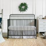 Million Dollar Baby Classic Winston 4-in-1 Convertible Crib Metal in Black, Size 45.75 H x 30.25 W x 54.5 D in | Wayfair B15301UR