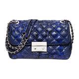 MICHAEL Michael Kors Womens Sloan Large Chain Shoulder Bag (Electric Blue/silver)