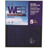 WEB Products High Efficiency Air Conditioner Air Filter in Blue, Size 25.0 H x 25.0 W x 1.0 D in   Wayfair KHBWEB1LGW2525